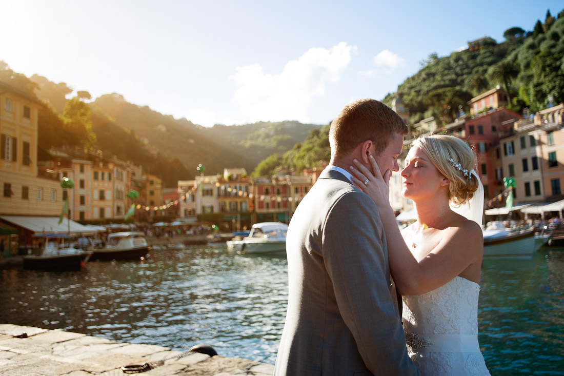 Jade and Gareth celebrating their love in Portofino, Italy
