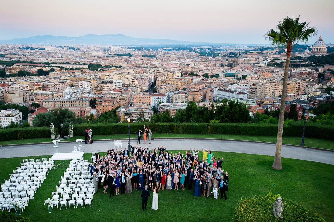 Hynde  and Christian wedding in Rome