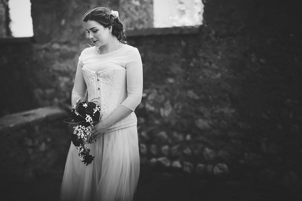 Lake Garda wedding, the bride
