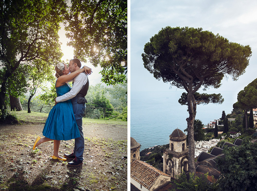 beautiful Ravello engagement