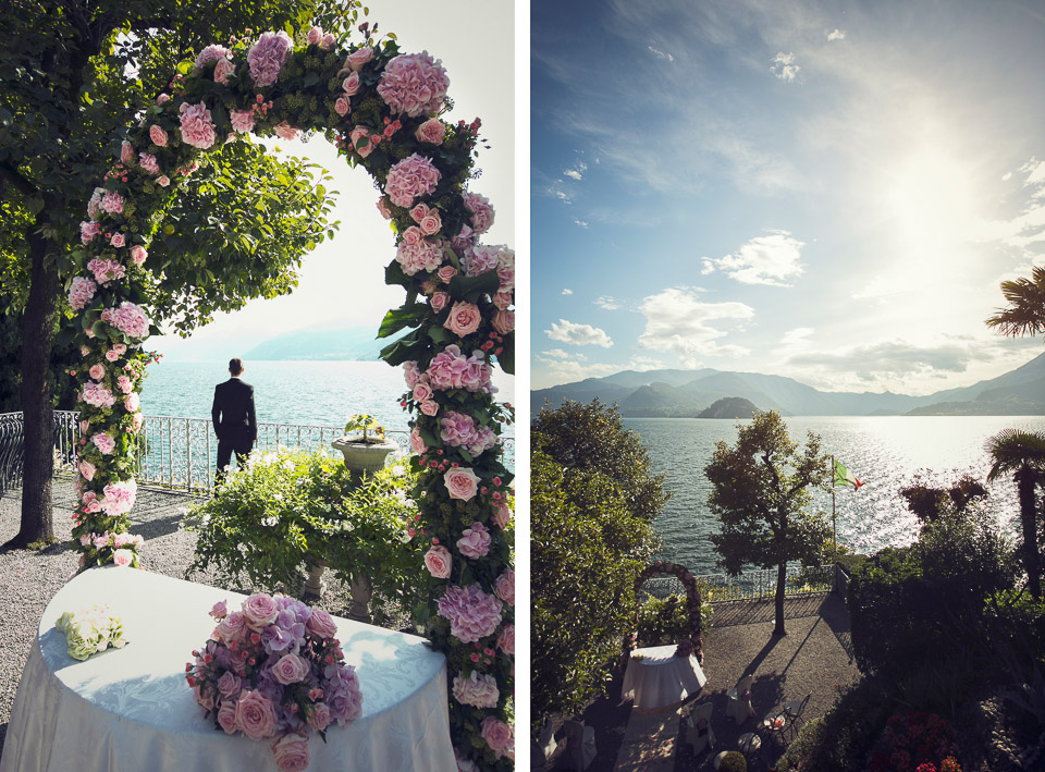 ceremony by the lake como