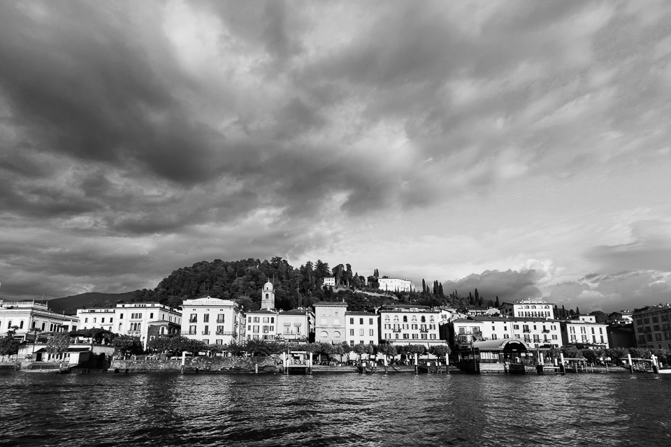 Varenna landscape from the lake