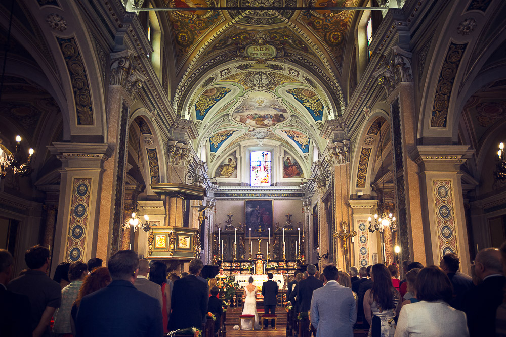 Wedding ceremony in a Catholic Church
