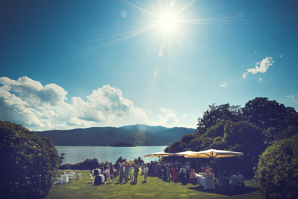 wedding aperitif by the lake