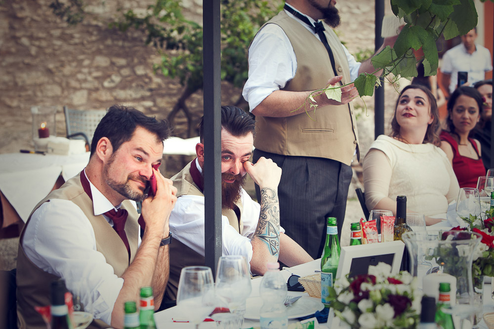 best men crying at the groom's speech
