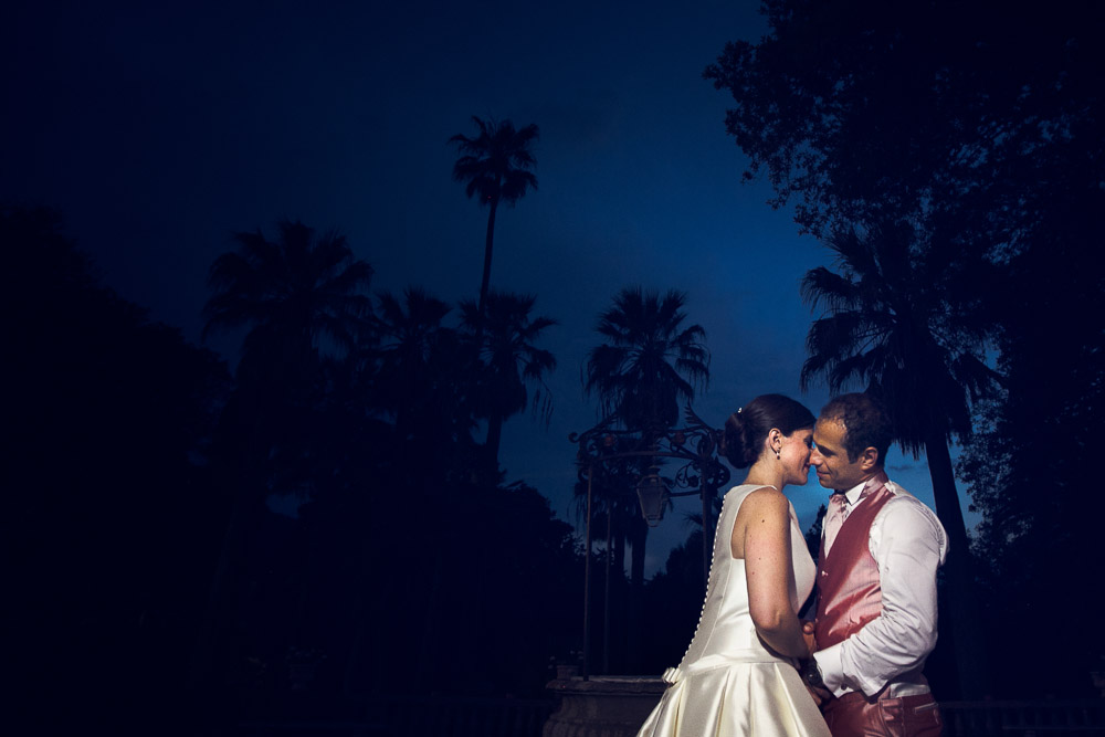 wedding photo at the blue hour