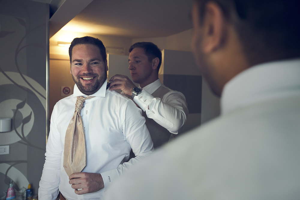 bets man helps the groom to get ready