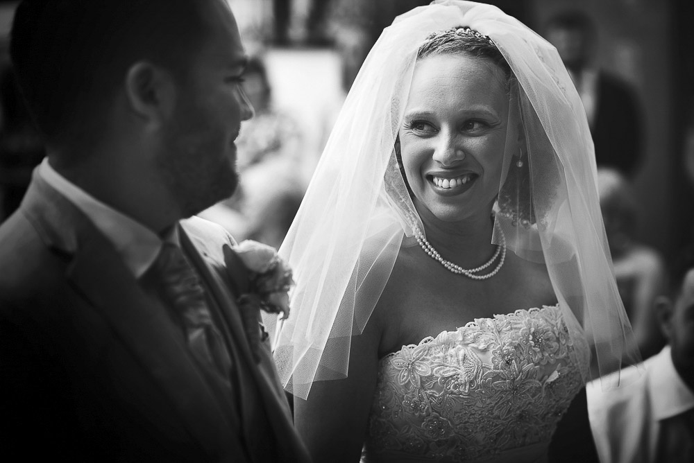 bride's beautiful smile