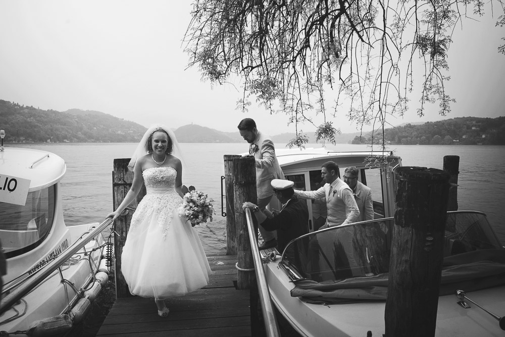 bride on a jetty