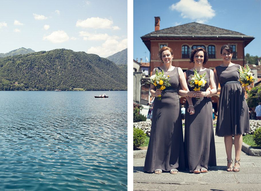the lake and bridesmaids