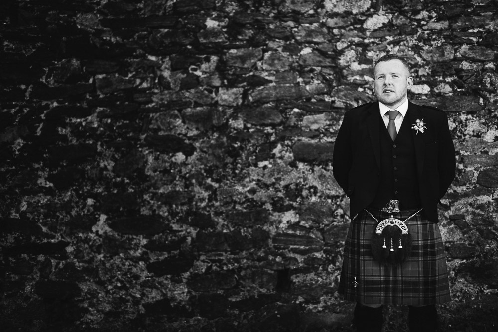 Scottish groom with kilt