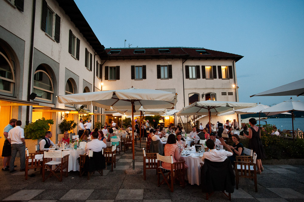 wedding reception Lake Orta