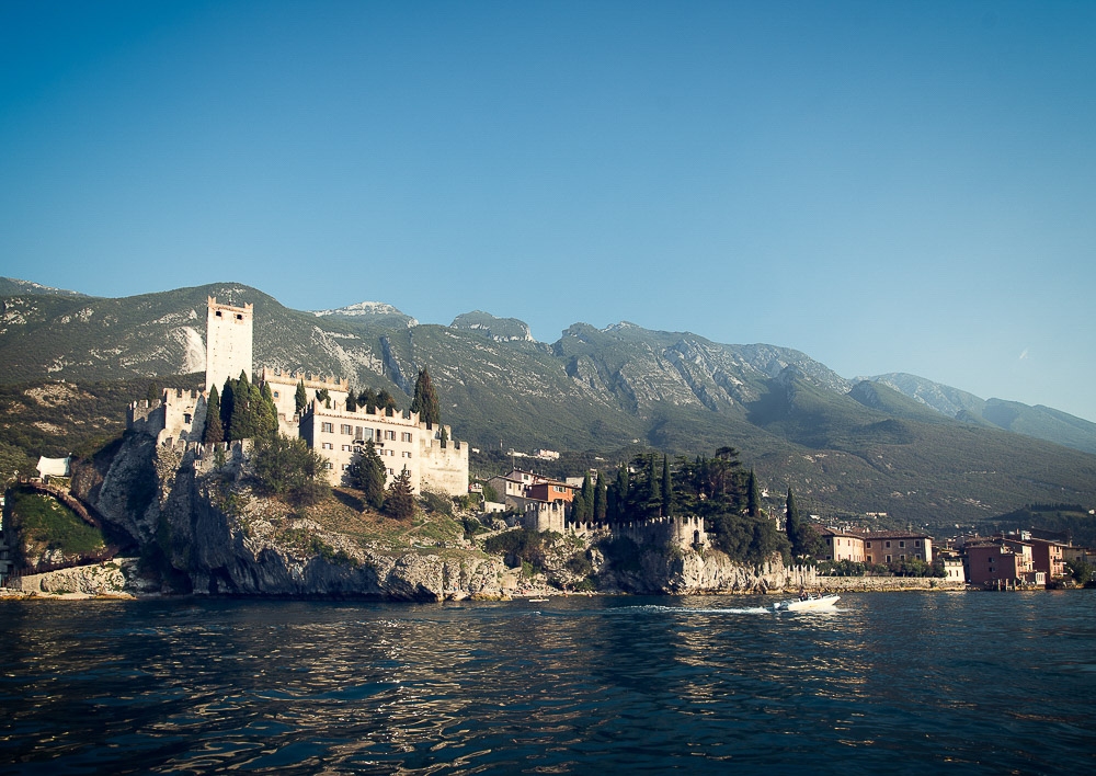 Malcesine Castle, view from the lake