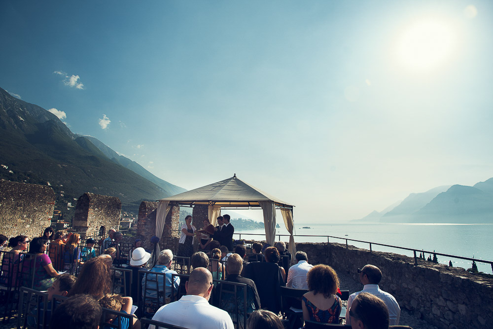 wedding on terrace of Malcesine castle