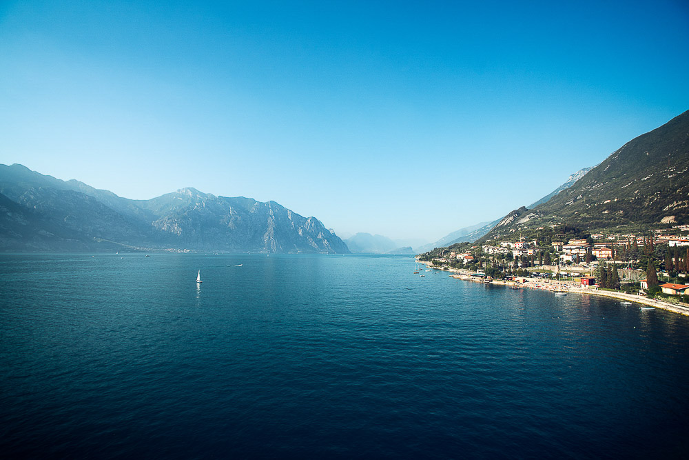 lake garda view from Malcesine castle