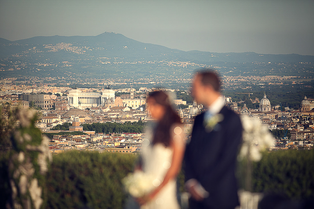 Italian wedding photographer, Rome wedding, amazing Rome view at the ceremony