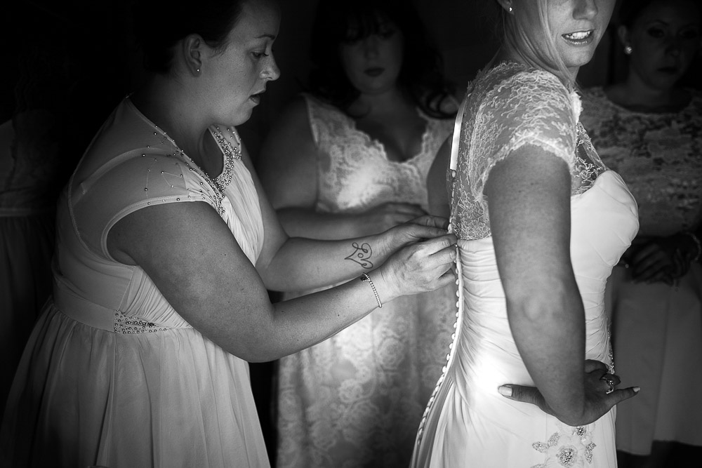 bride's last touches