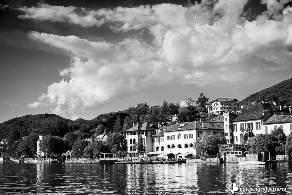 Orta town hall from the lake