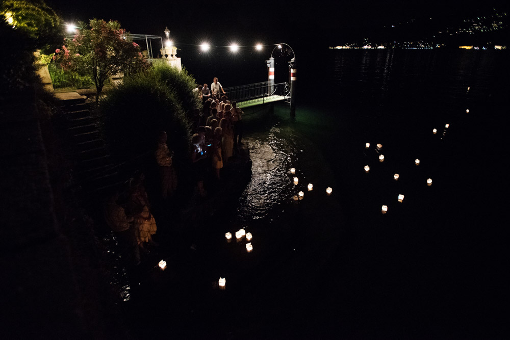 floating lanterns at lake maggiore