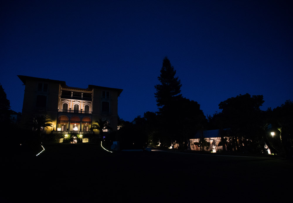 Villa Rusconi by night