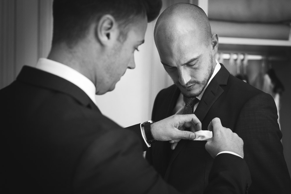 groom last touches