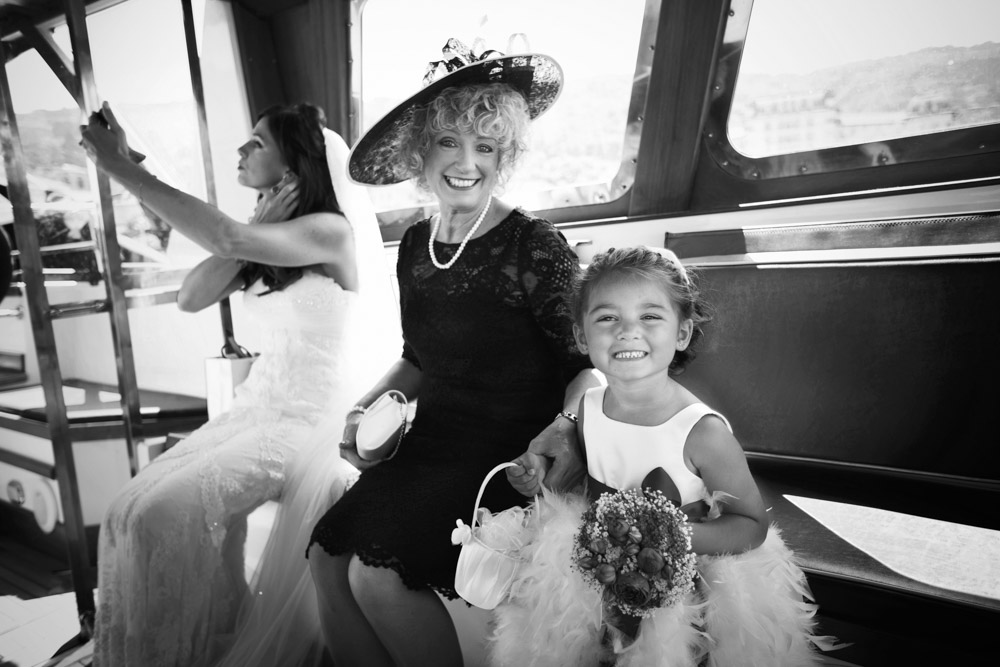 flower girl on boat