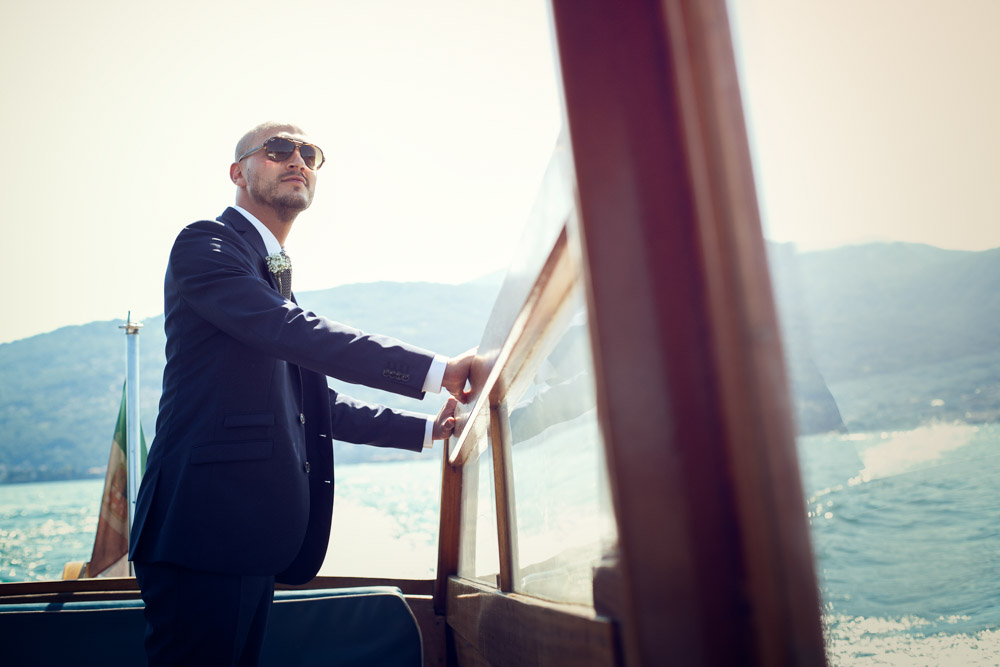groom on boat
