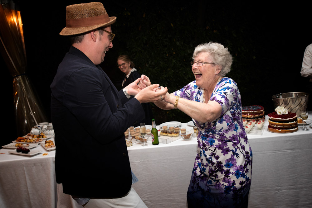grandmother dancing at the wedding