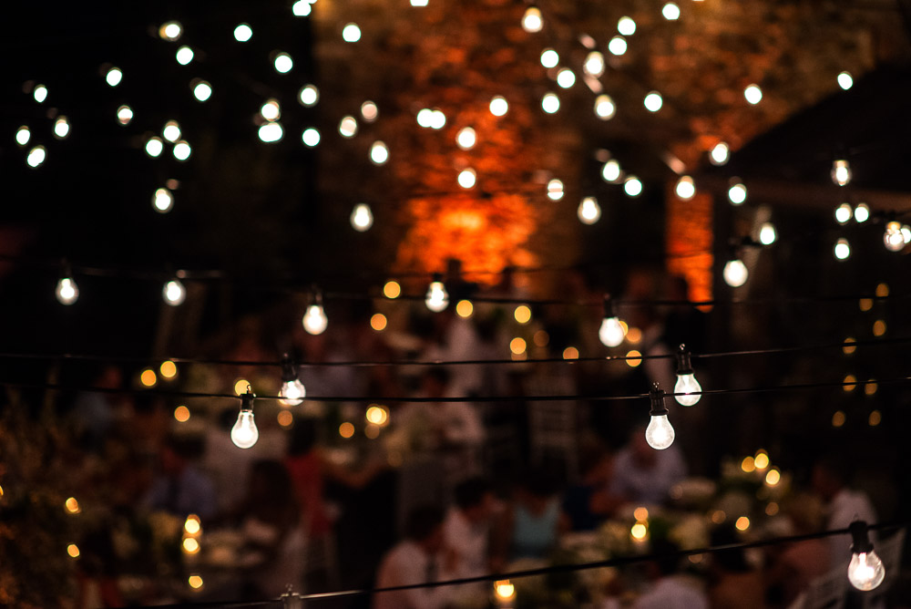 lights at the wedding