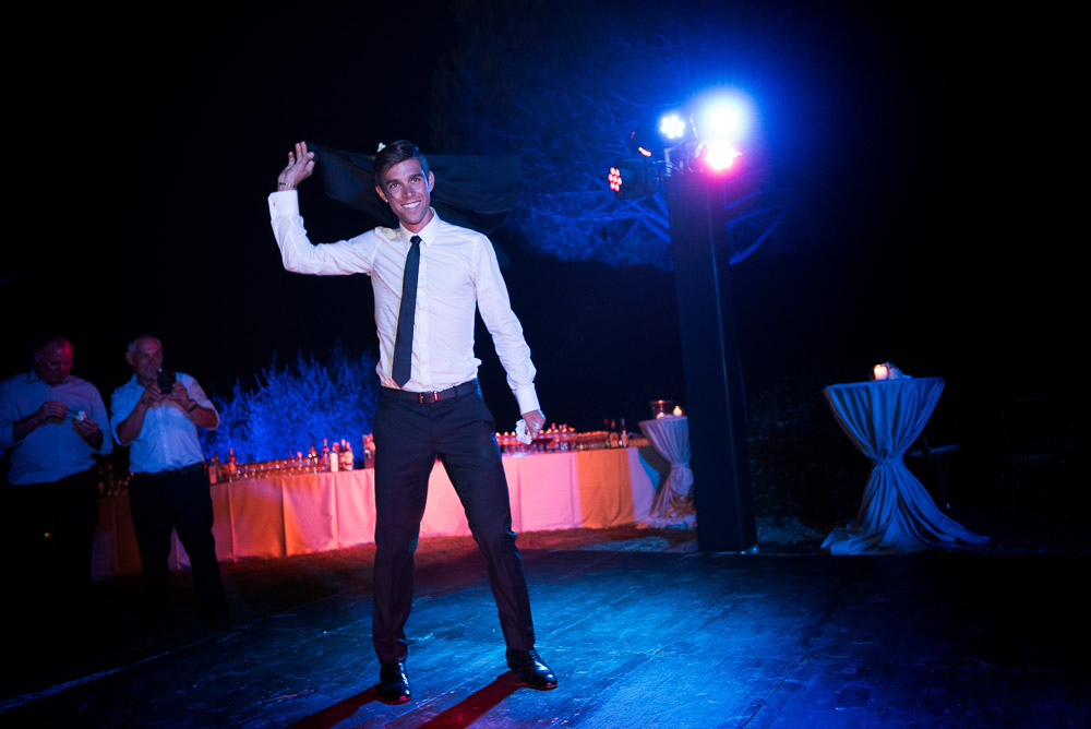 groom on the dance floor
