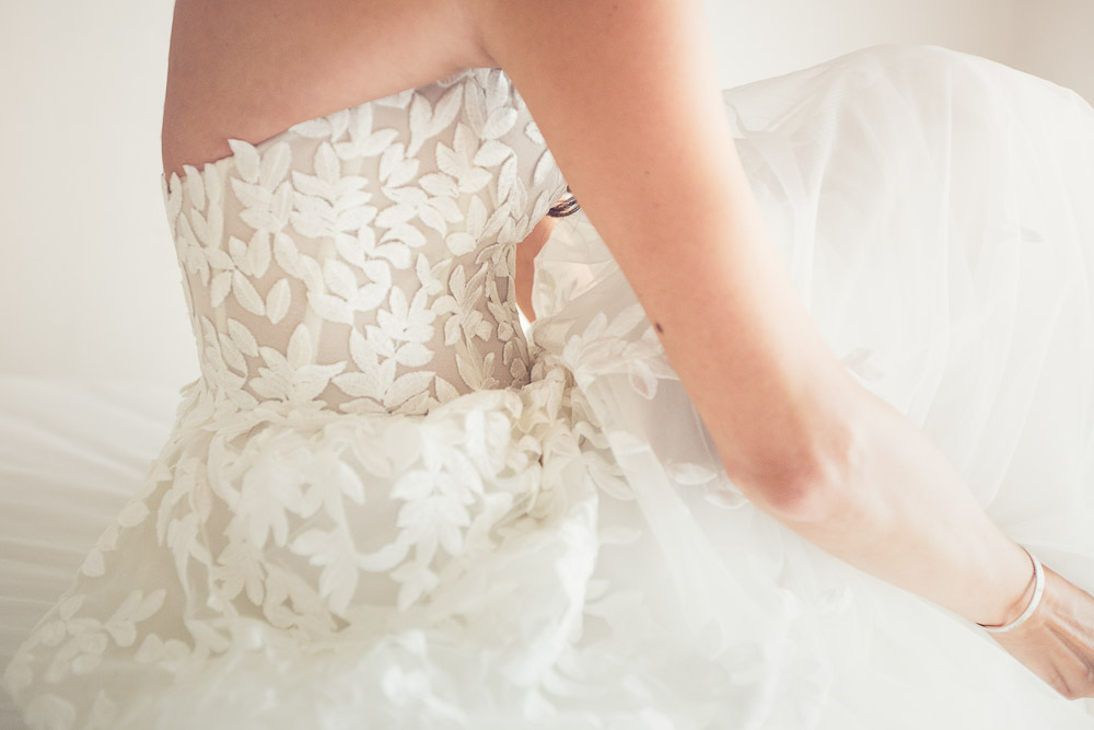 bridal white gown