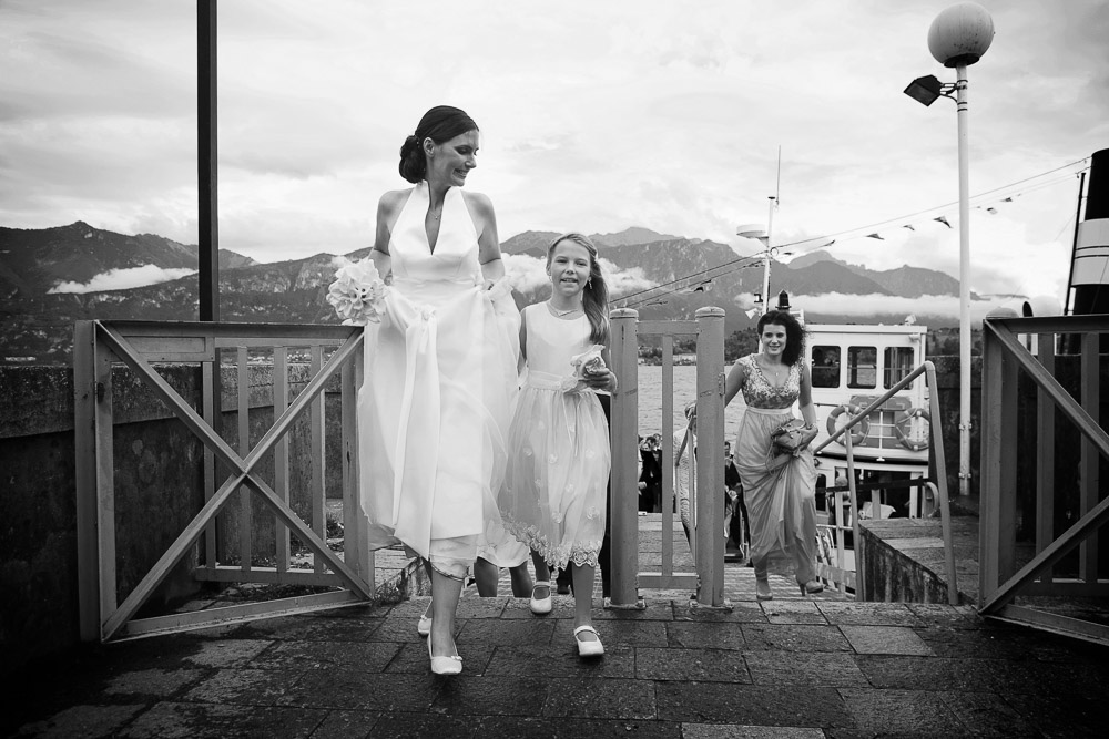 bride by the lake como