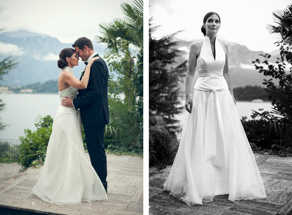 bride and groom lake como wedding