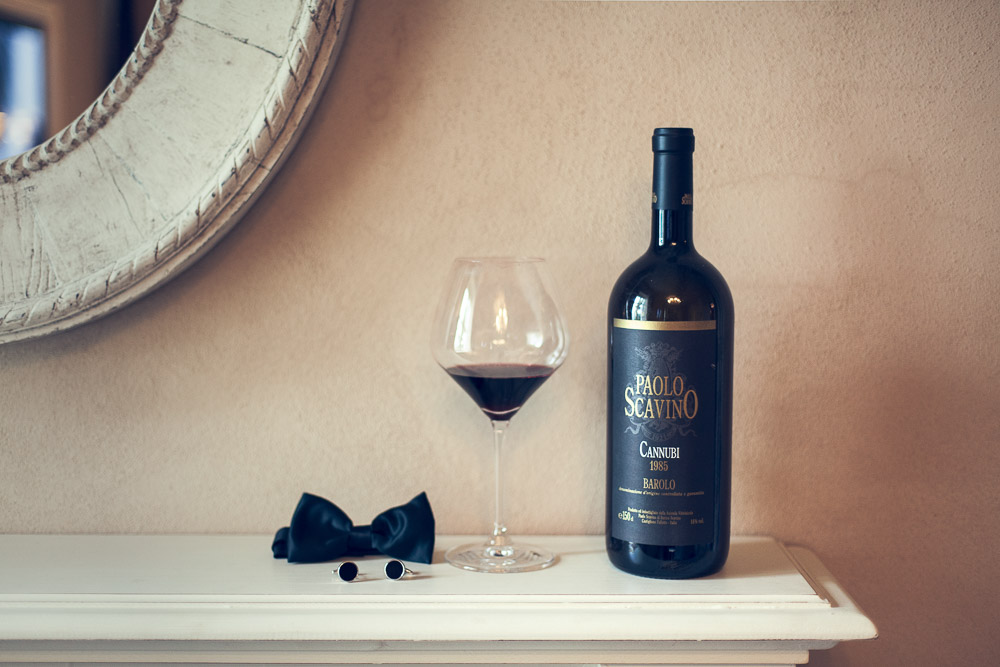 wedding with Barolo wine
