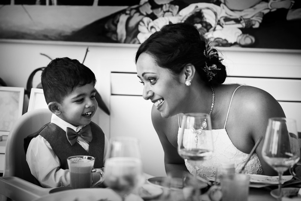 bride and little guest
