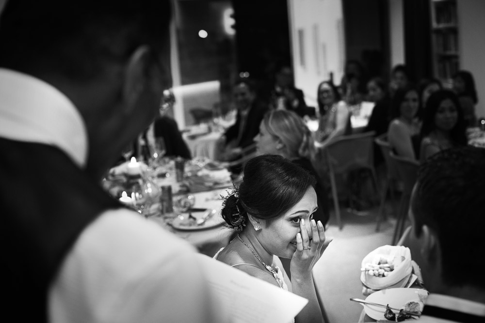 bride's crying during a speech