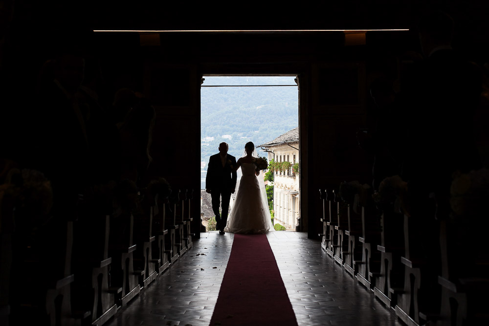 here comes the bride. lake orta wedding