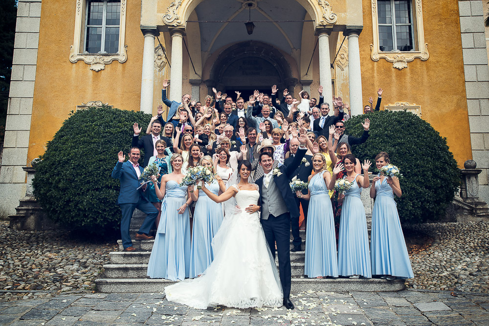 all the wedding party, lake orta wedding