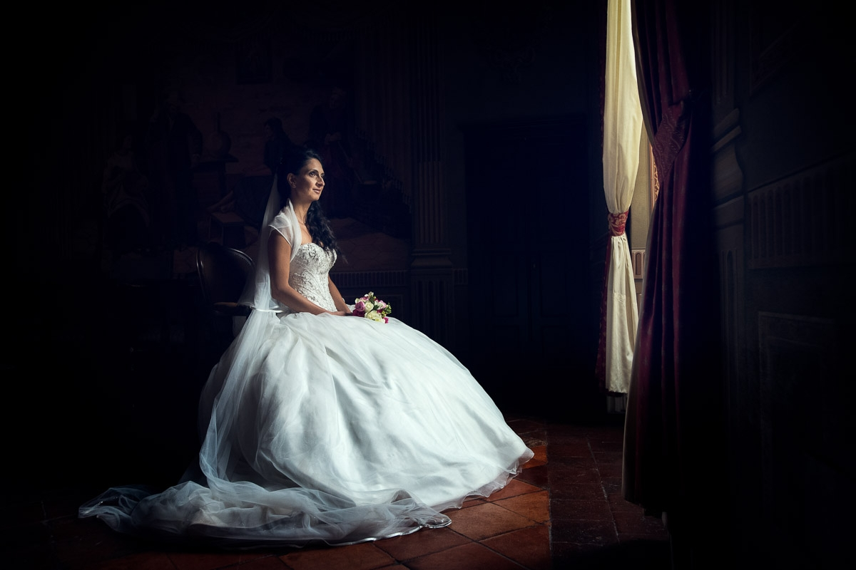 the bride is ready, wedding in italy