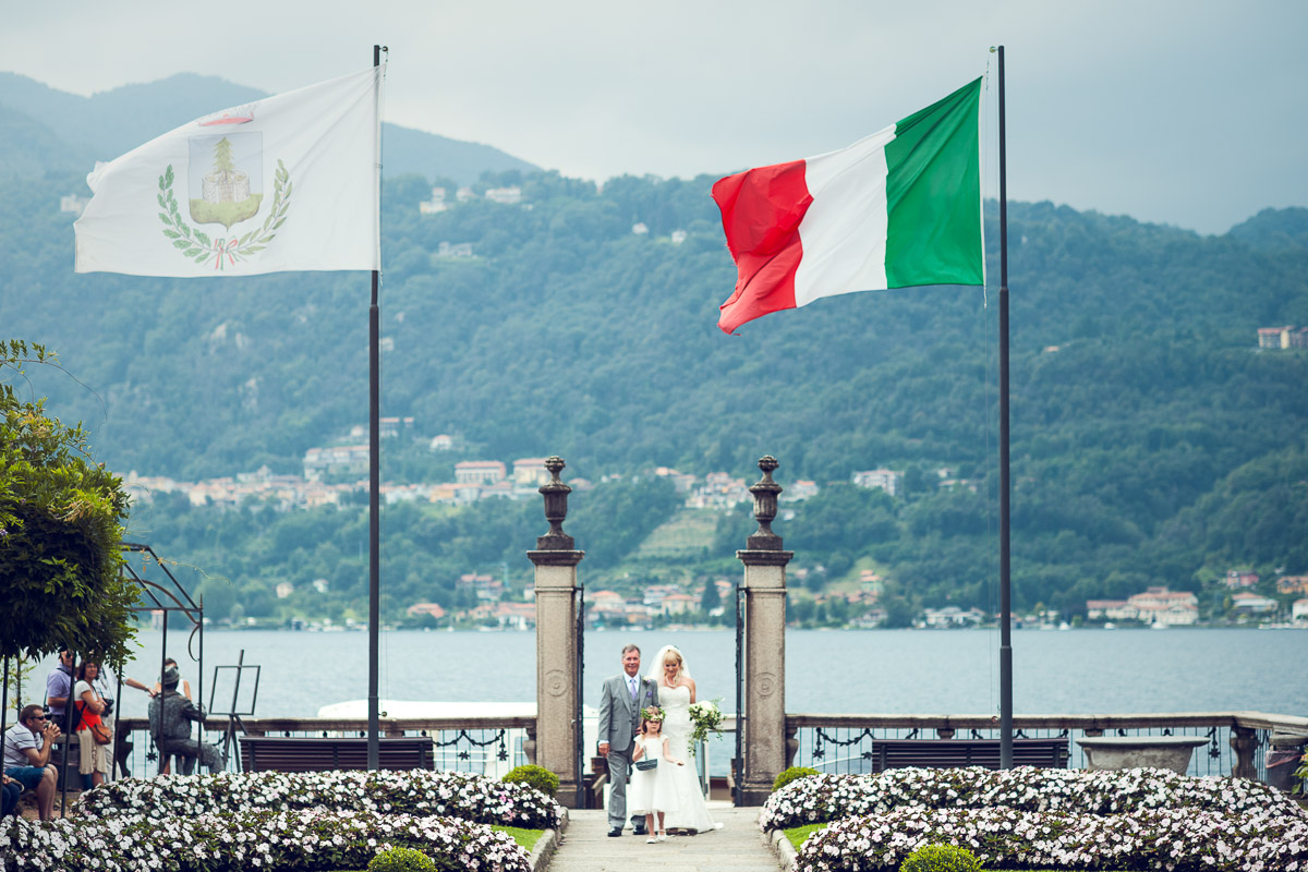 lake orta wedding, here comes the bride