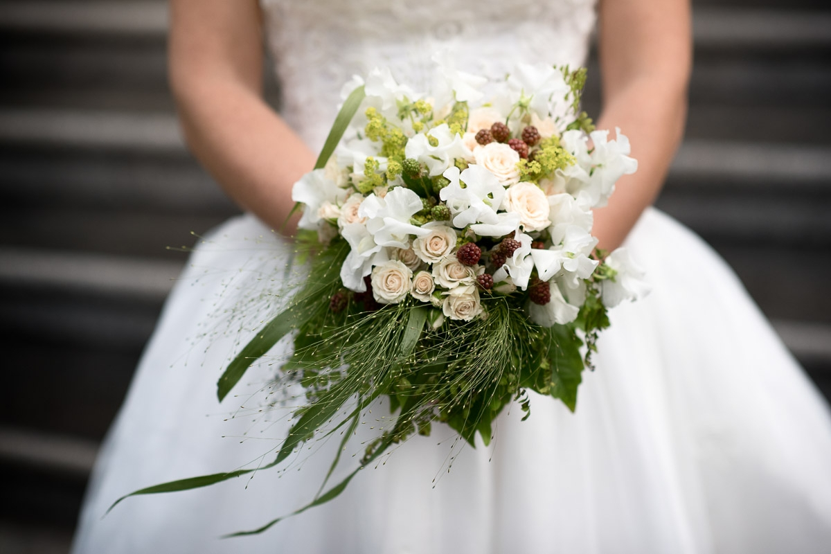 bridal bouquet with blackberry