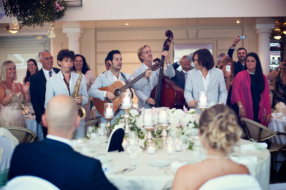 music during the wedding dinner