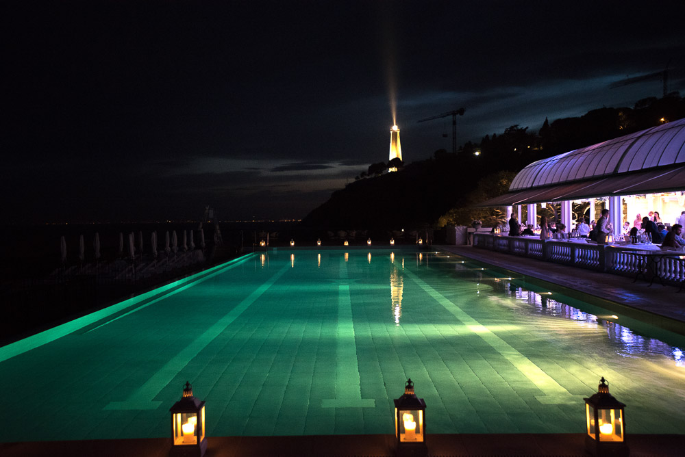 swimming pool at cap ferrat grand hotel