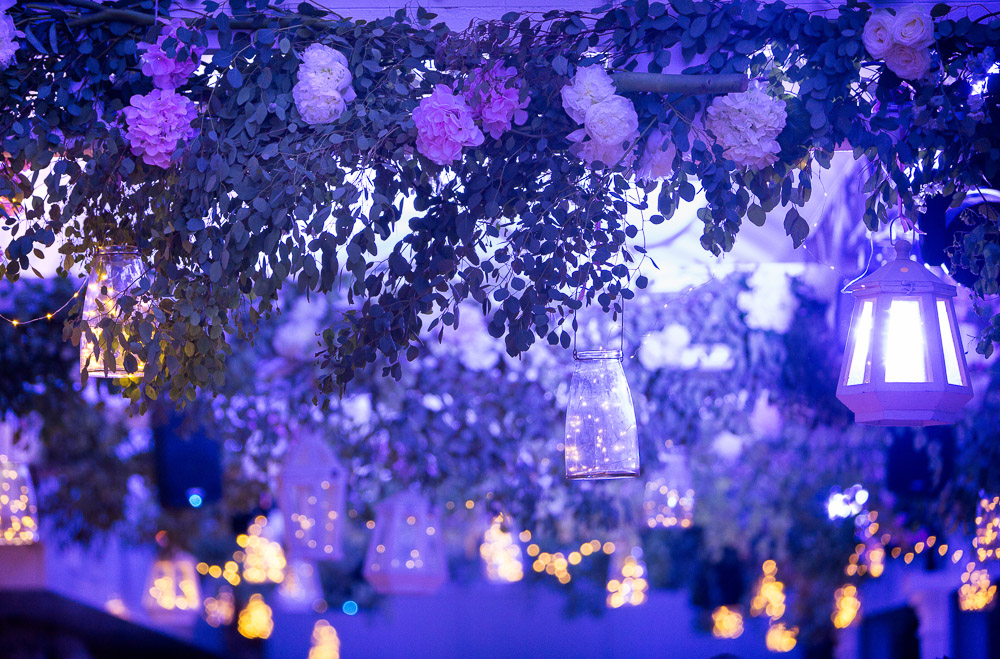 wedding details at night