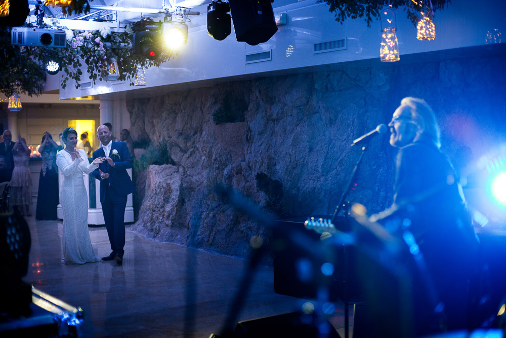 Umberto Tozzi, Italian singer, singing at wedding