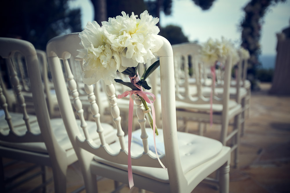 seat at wedding ceremony