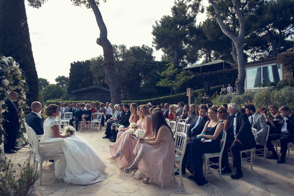 wedding ceremony on terrace French Riviera