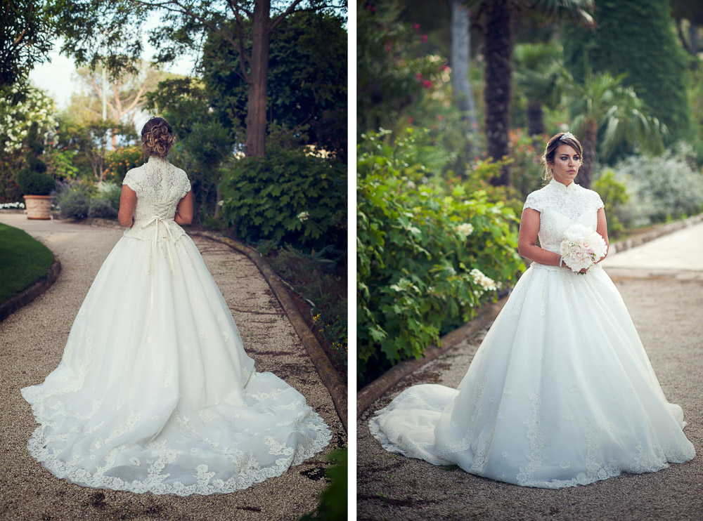 bride with white gown