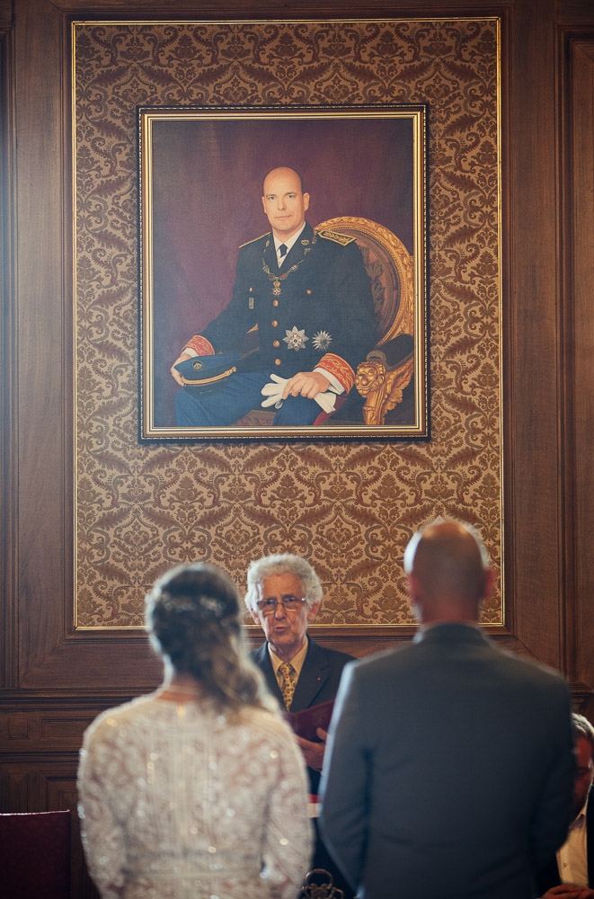 king of Principality of Monaco picture at town hall wedding