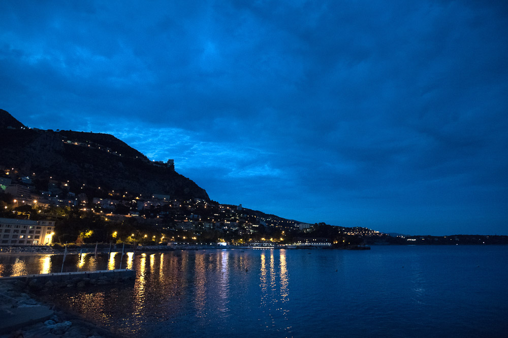 Blue hour at Principality of Monaco
